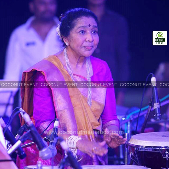 Asha Bhosle live in Ahmedabad event managed by Coconut Media Box Event Mumbai