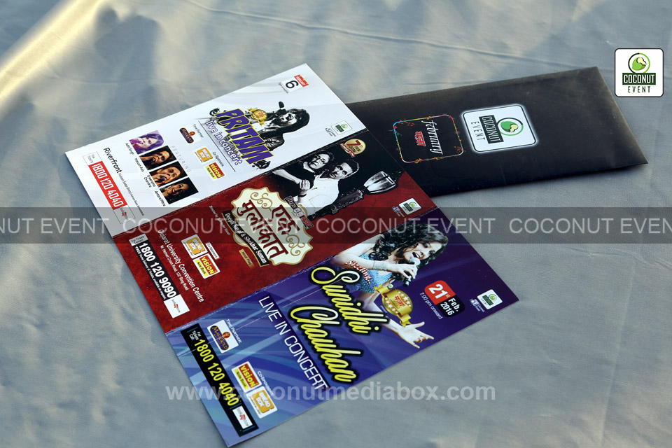Ticket passes of concerts by coconut event