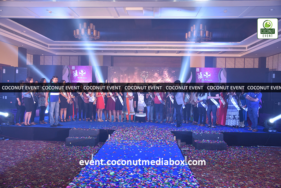 Coconut event managing an event for HPCL's Mumbai Refinery 2017 Women's Day Celebration with stage,lights and confetti to promote gender equality