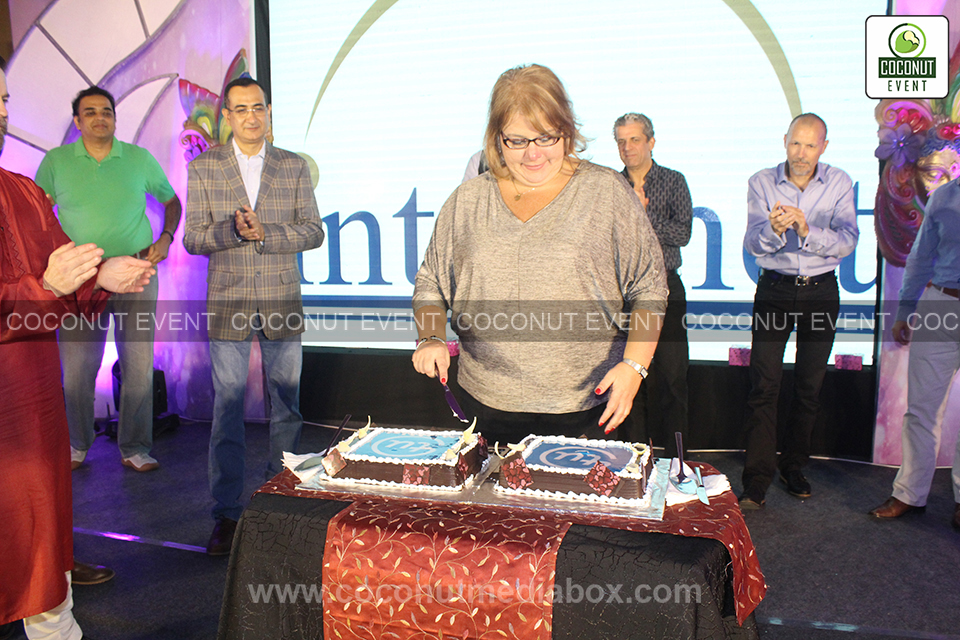 Intelenet Get-together managed by Coconut Event Mumbai with cake cutting ceremony