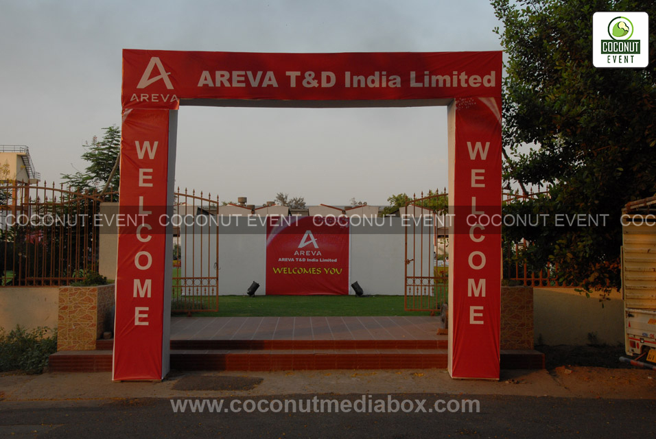 Event Enterance Decoration for Areva India