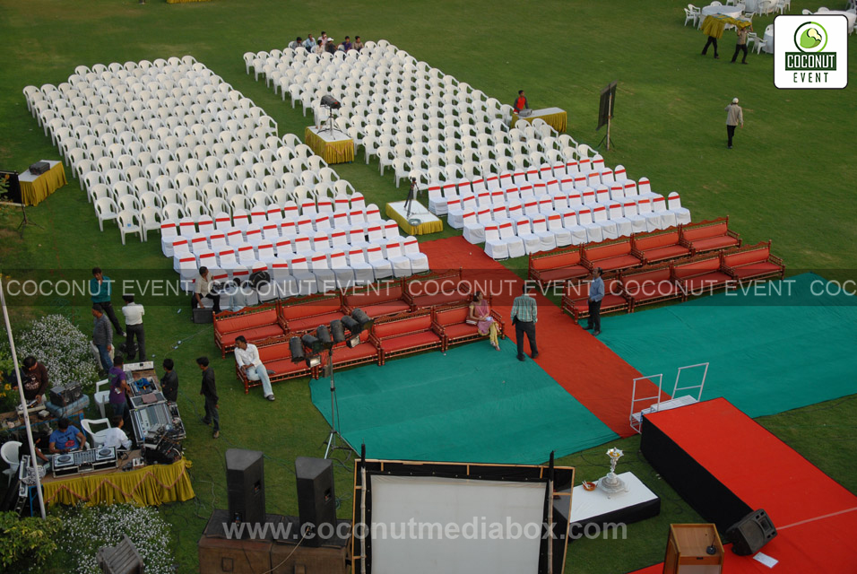 Stage Seating Arrangement in Event