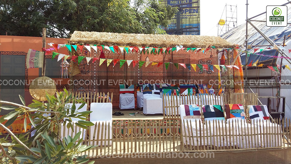 Traditional Decoration & Sitting Arrangement at Navratri Surat