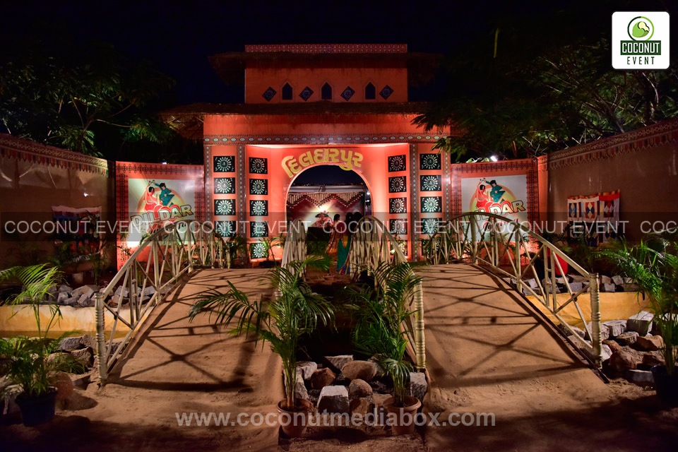 Entrance Decoration of Navratri 2015 at Hyderabad