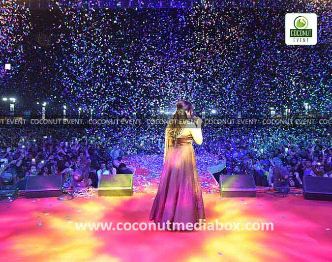 Shreya Ghoshal Live in Concert in 2017 at Ahmedabad by Coconut Event an event management company in Mumbai