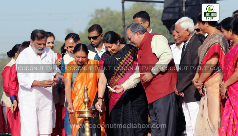 Inauguration event at vedfest 2015 by Smiriti Irani