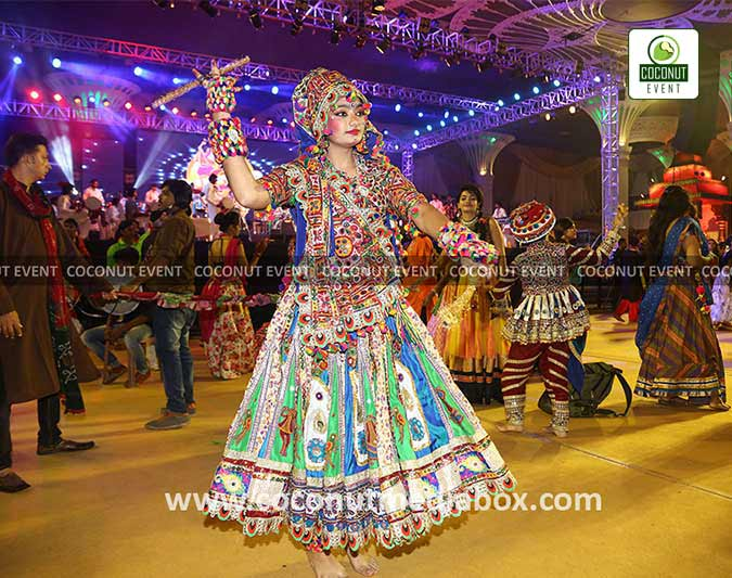 Dildar Dandiya Navratri Event at Surat held in 2016 by Coconut Event an event management company in Mumbai