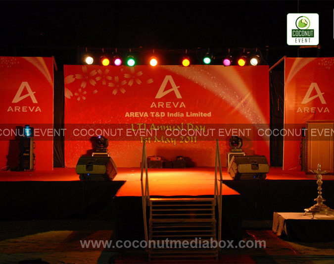Corporate Event at AREVA T & D AWARD ceremony was organized at Taj hotel, Mumbai by Coconut Event an event management company in Mumbai.