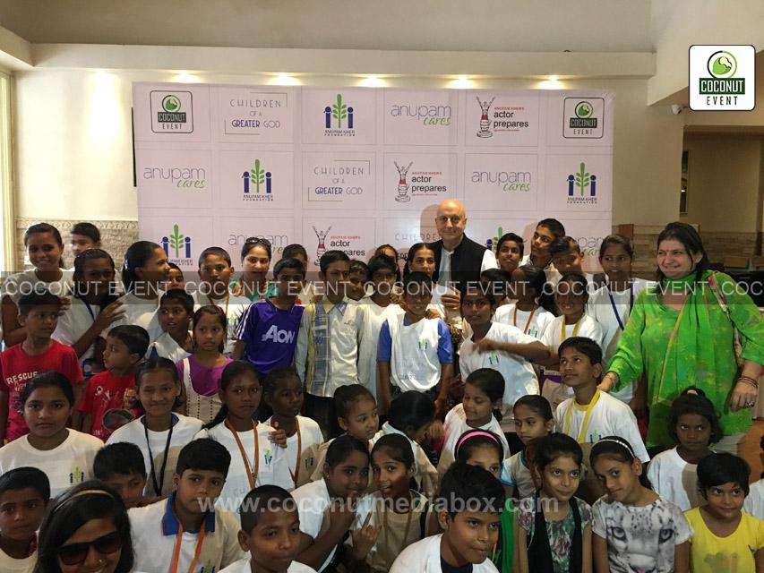 Anupam Kher with Children