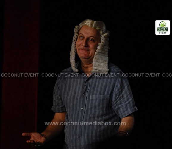 One of the best theatre play kuch bhi ho sakta hai acted by Bollywood actor Anupam Kher at Ahmedabad held in December 2015 managed by Coconut Event Mumbai