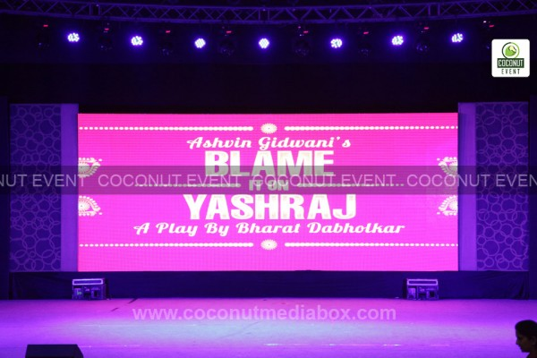Blame It On Yashraj - Hilarious Comedy Theatre Play on May 2015 at Ahmedabad managed by Coconut Event Mumbai