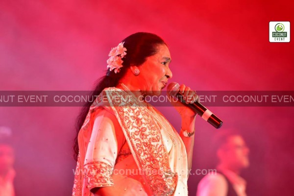 India's lagendry playback singer Asha Bhosle Live concert at Ahmedabad Live in Concert 2014. Event managed by Coconut Media Box