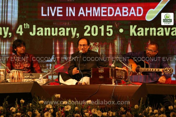 Pakistani ghazal singer Ghulam Ali Khan fantastic musical event live organized in Ahmedabad on January 2015. Event managed by Coconut Media Box