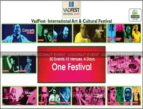 Art & cultural festival was graced in Vadodara, Gujarat where Bollywood's famous celebrities performed live shows managed by Coconut Event Mumbai
