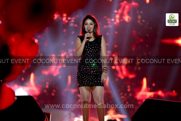 Sunidhi Chauhan Live performance - at AES Ground, Ahmedabad on February 2016 Event managed by Coconut Media Box
