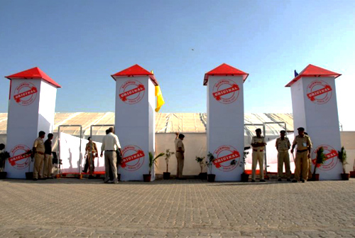 Rockwool Entrance - Arrangment by Event Team